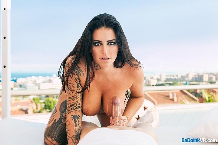 Tattooed Brunette Raquel Adan Fucked on Sunny Rooftop