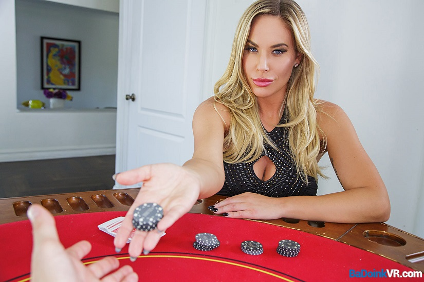 Going All In – Olivia Austin VR Porn Creampie on the Poker Table
